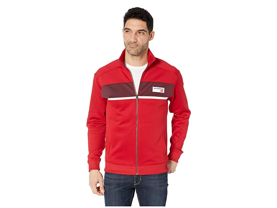 New Balance NB Athletics Track Jacket (Chili Pepper) Men