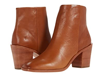 Frye Georgia Bootie (Cognac Polished Soft Full Grain) Women