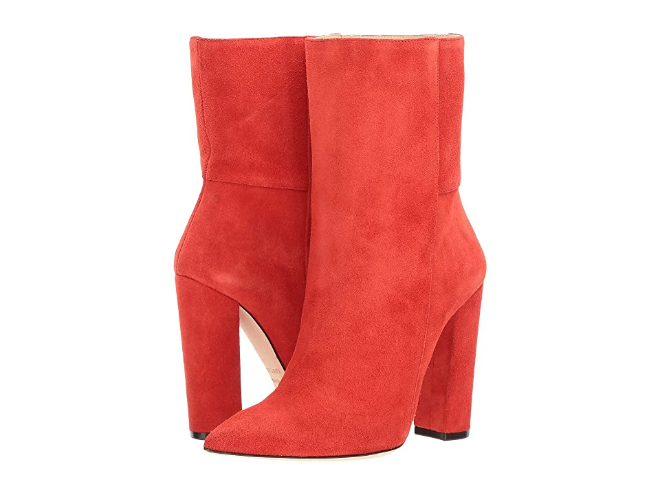 aaade60e94d Racine Carree Chunky Heel Ankle Bootie (Red) Women s Shoes