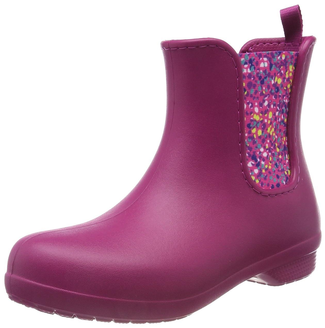 海洋調停するできる[Crocs] (クロックス) レディース Freesail チェルシーブーツ 婦人靴 長靴 アンクル ブーツ 女性用 (7 UK) (ベリー/ドット)