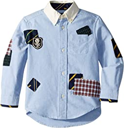Patchwork Cotton Oxford Shirt (Toddler)