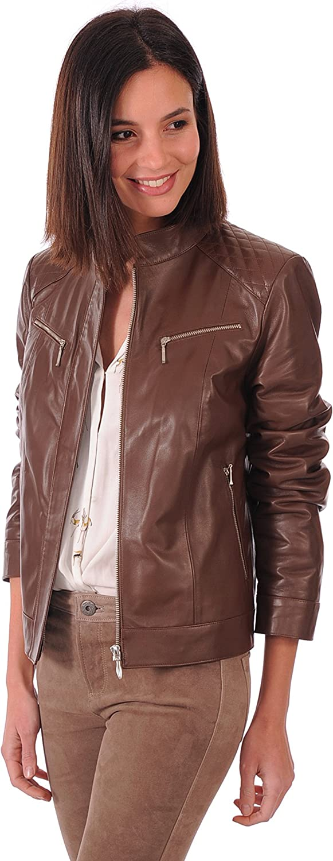 Leather Lifestyle Womens Lambskin Genuine Leather Jacket Slim Fit Biker Motorcycle Stylish Coat  WJ80