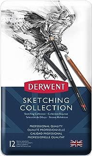 Derwent Sketching Collection, Metal Tin, 12 Count (34305)