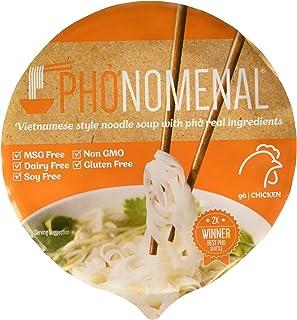 Pho'nomenal Bowl Instant Pho Noodles Gluten Free Low Sodium Vietnamese Chicken Soup, No MSG, Non GMO, No Soy 2.1 oz. (6 Bo...