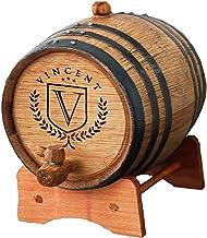 Custom Engraved and Personalized Whiskey Wine Scotch Bourbon Mini Oak Barrel - Complete Aging Kit - MPM Styles (2 Liter Ba...