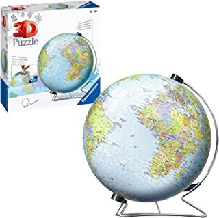 Ravensburger World Globe on a V-Stand 540 Piece 3D Jigsaw Puzzle for Adults and Kids Age 10 and Up