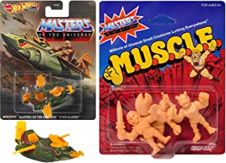 Muscle He-Man Masters of The Universe Motu Wind Raider Attack Vehicle Die-Cast Bundled with Figures Mini Mighty Warriors S...