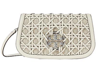 Tory Burch Miller Basketweave Convertible Small Shoulder Bag