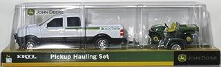 Pickup Hauling Set - One Set: White Pickup with Trailer and Bonus Vehicle