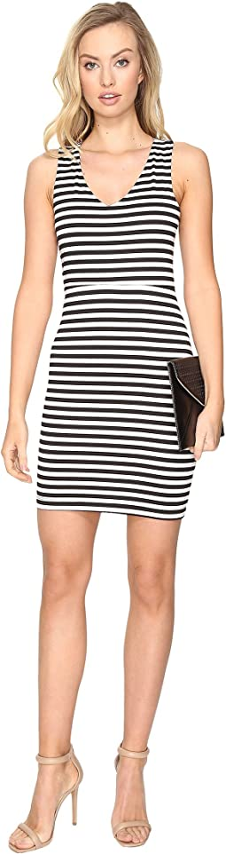 Geno Striped Ponte Bodycon Dress