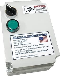 Elimia Air Compressor Motor Starter, Three Phase, 10 HP, 230V, Nema 4X, 23-32 Amp Overload, Made in USA