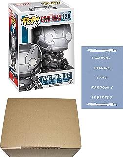 Captain America Civil WAR MACHINE Funko Pop! Vinyl Figure Bundle with 1 Marvel Trading Card & 1 Cardboard Protector Box