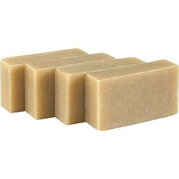 Jabón facial - Avena, lavanda y romero (4 Bar Set)- Orgánico y artesanal para pieles sensibles. Jabón corporal hidratante para piel y cara. Con manteca de karité, aceite de coco, glicerina.: Amazon.es: