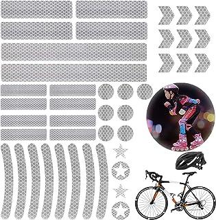 Shengruili Reflektoren Aufkleber Sticker,Reflektor Sticker Fahrrad,Reflektor Band,Reflektierende Aufkleber,Reflexfolie Selbstklebend,für Kinderwagen