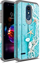 LG K30 Case, LG Premier Pro LTE Case, LG Harmony 2 Case, LG Phoenix Plus Case, Rosebono Slim Hybrid Dual Layer Shockproof Graphic Cover Armor Case for LG K10 2018 (Starfish)