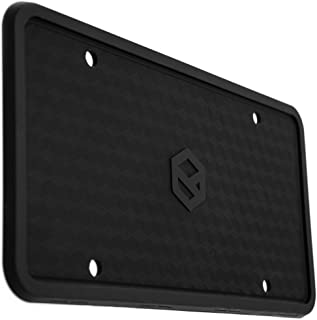 Rightcar Solutions Flawless Silicone License Plate Frame - Rust-Proof. Rattle-Proof. Weather-Proof. - Black