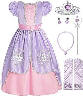 ReliBeauty Girls Short Sleeve Costume Princess Dress