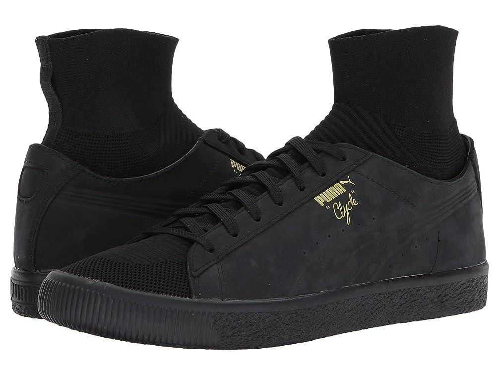 大騒ぎ郡バースプーマ シューズ スニーカー Clyde Sock Select Puma Black [並行輸入品]