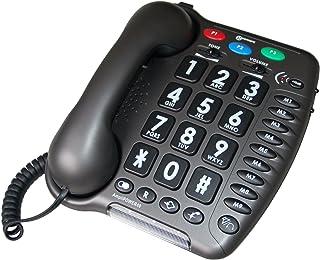 Geemarc AMPLIPOWER40 - Teléfono de teclas grandes con cable (especial para personas con deficiencias auditivas