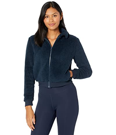 Beyond Yoga All Time Bomber Jacket (Nocturnal Navy Sherpa) Women