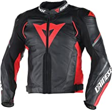 Dainese Super Speed D1 Leather Jacket BLACK/RED/ANTHRACITE 56 Euro / 46 US