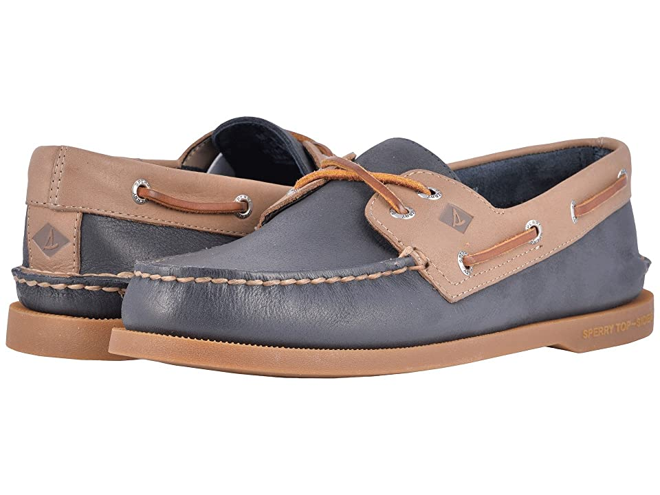 Sperry A/O 2-Eye Cross Lace (Navy/Stone) Men