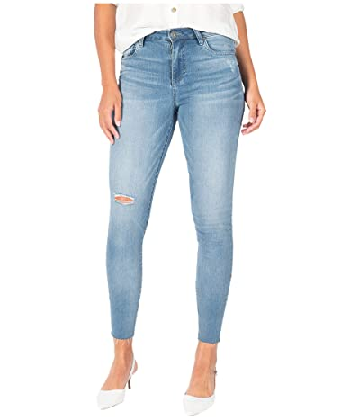 KUT from the Kloth Connie High-Rise Ankle Skinny with Raw Hem in Abiding/Medium Base Wash (Abiding/Medium Base Wash) Women