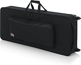 Gator Lightweight Keyboard Case with Pull Handle and Wheels; Fits Standard 61 Note Keyboards and Electric Pianos (GK-61)