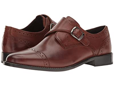 Nunn Bush Newton Cap Toe Dress Casual Monk Strap (Brown) Men
