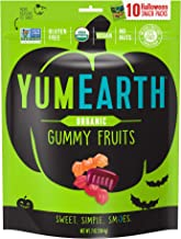 YumEarth Organic Halloween Gummy Fruit Snack Packs, Assorted Flavors, 10 Count