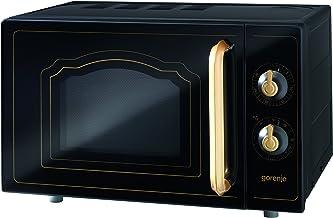 Gorenje MO 4250 CLB Stand-Mikrowelle mit Grillfunktion / 700 W / Garraum 20 L / matt-schwarz / Classico Collection