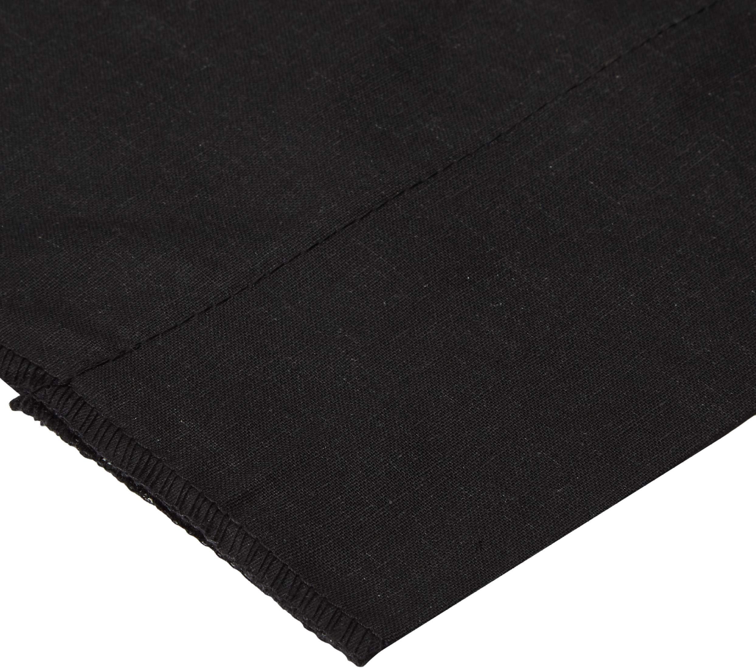 145cmx115cm piece Cotton Velvet Pure Black Fabric Plain Fabric Remnant Fabric Cut off Fabric Fashion Fabric Clothing Craft Supplies Fabric