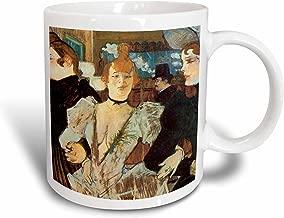 3dRose 130182_1 La Goulue Arriving at the Moulin Rouge with two Women by Henri De Toulouse Mug, 11 oz, Ceramic