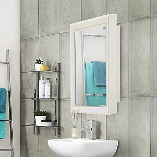 Nilkamal Gem Plastic 1 Door Cabinet with Mirror (Ivory), Standard (GEMMCABINETIVR)