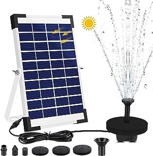AIMTOP 5W Solar Springbrunnen Pumpe, Solar Teichpumpe Solar Wasserpumpe Set für Gartenteich, Teich, Springbrunnen, Fisch-B...