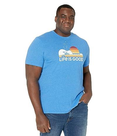 Life is Good Beach Music Cool Teetm (Royal Blue) Men