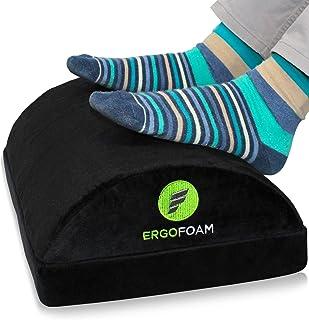 ErgoFoam Adjustable Foot Rest Under Desk for Added Height | Large Premium Velvet Soft Foam Footrest for Desk | Most Comfor...