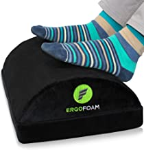 ErgoFoam Adjustable Foot Rest Under Desk for Added Height | Large Premium Velvet Soft Foam Footrest for Desk | Most Comfor...