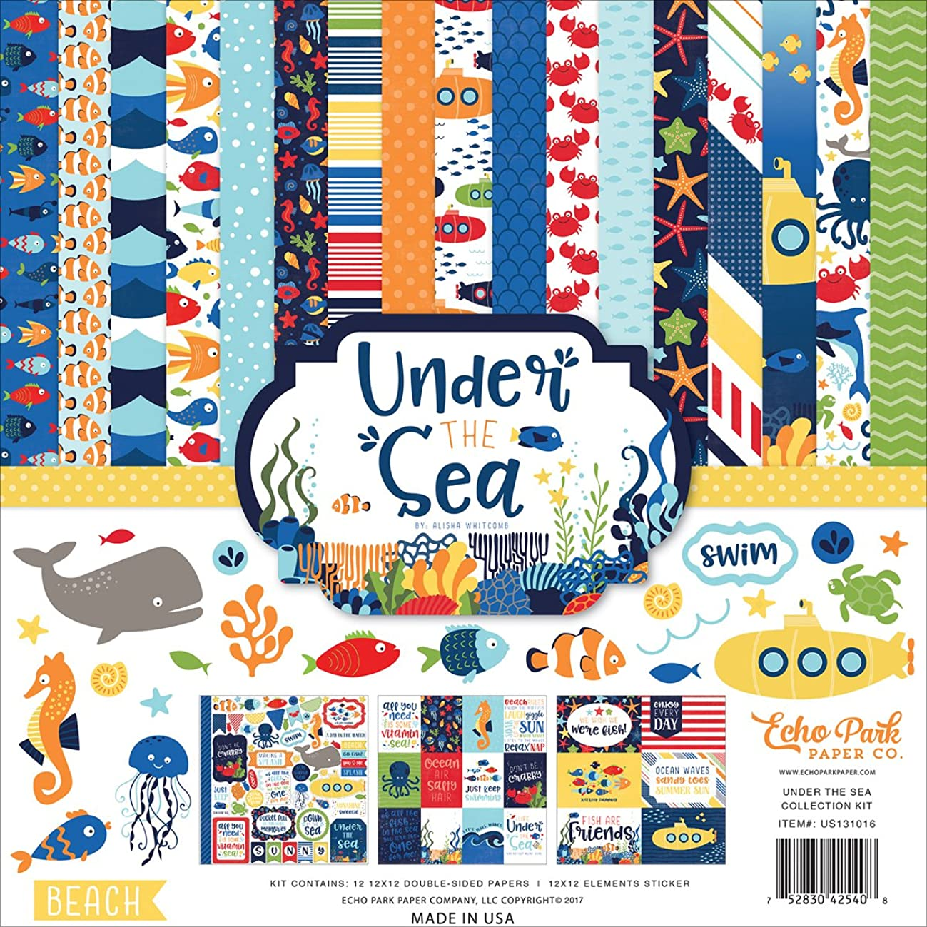 Echo Park Paper Company Under The Under The Sea Collection Kit