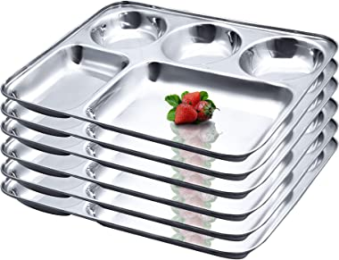 snow bird Stainless Steel Dinner Plate - Pack of 2, Silver