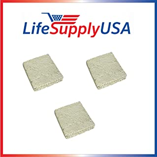 LifeSupplyUSA 3 Pack Replacement Evaporator Pad Filter with Wick Compatible with Skuttle A04-1725-052 Model 2000 White-Rodgers, Goodman Humidifiers