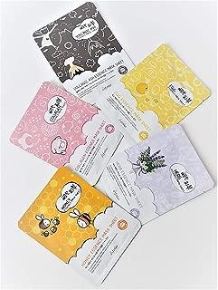 ESFOLIO [ KOREA ] Essence Mask Sheets (set of 5 sheets) 5 variations: HONEY, HERB, VOLCANIC ASH, EGG, COLLAGEN