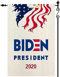 Forno Biden President 2020 Garden Flag ، الولايات المتحدة الوطنية ستار الشريط والنسر عمودي مزدوج الجانب البوليستر ريفي ساح...