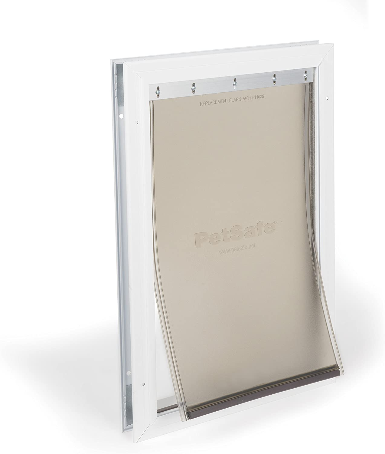 PetSafe Freedom Aluminum Pet Door for Dogs and Cats, White, Tinted Vinyl Flap