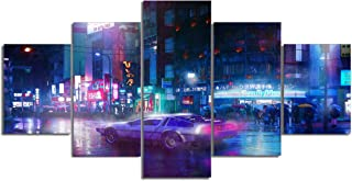 Cyberpunk Street Canvas Posters Home Decor Wall Art Framework 5 Pieces Paintings for Living Room HD Prints Movie Pictures