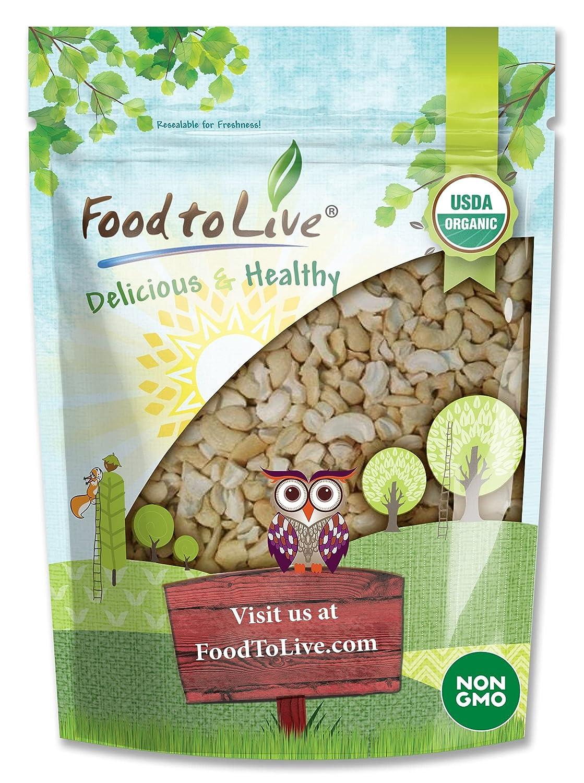 Organic Cashew Pieces 8 Ounces - Vegan Gorgeous Kosher U 4 years warranty Non-GMO Raw