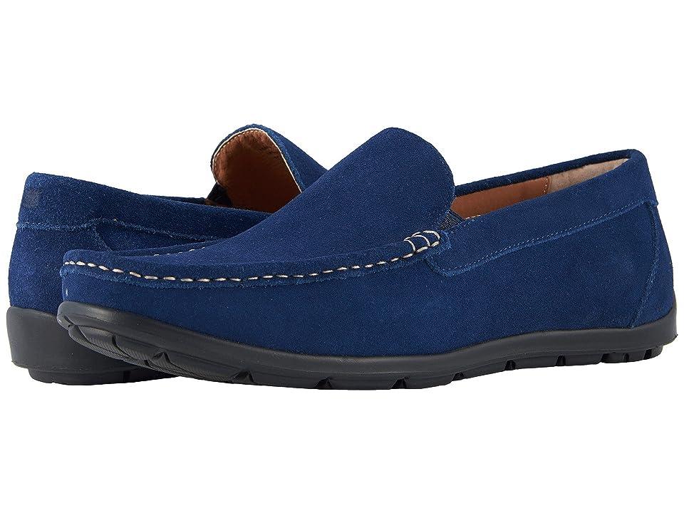 Florsheim Draft Moc Toe Venetian Driver (Blue Suede) Men