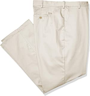 Men's Big and Tall Flat Front Extended Twill Pant