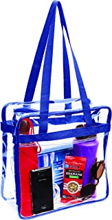 Clear Stadium Approved Tote Bag, for, Security Travel, Sports (Navy)