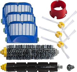 SCHWABMARKEN Kit de cepillos y filtros compatible para iRobot Roomba 600 620 630 650 660 - ¡No piezas originales de iRobot!